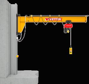 Assistent søjlesvingkran til arbejdspladser med lavt til loftet og i trange områder