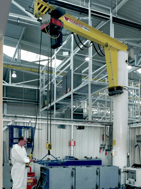 Meister søjlesvingkran med bæreevne 125-20.000 kg