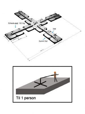 Mobilt forankringspunkt til 1 person
