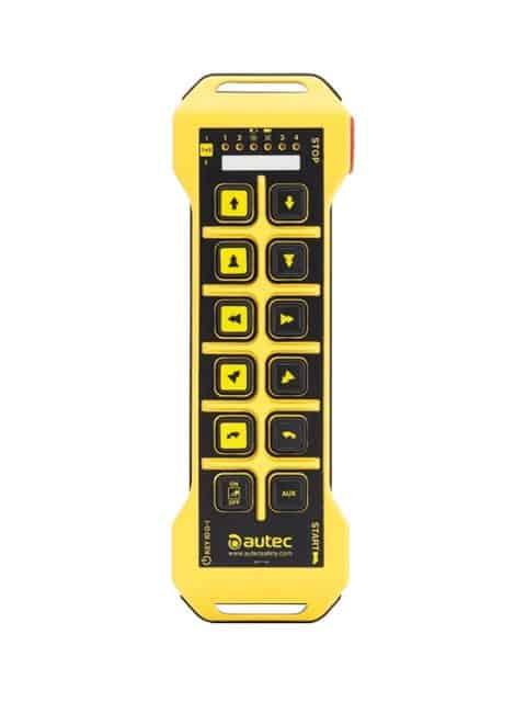 AUTEC håndsender i flere udgaver alt efter hvor mange funktionsknapper, der er behov for.