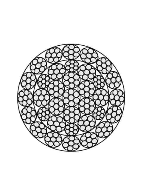 Rotationsfri stålwire 35x7