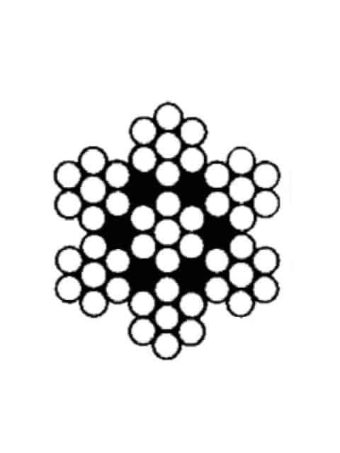 HøjrekrydsslåetHøjrekrydsslåetHøjrekrydsslået stålwire 7x7