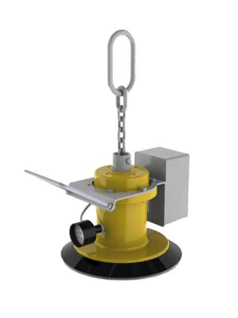 Vakuumløfter for horisontal transport af glatte ikke-porøse byrder