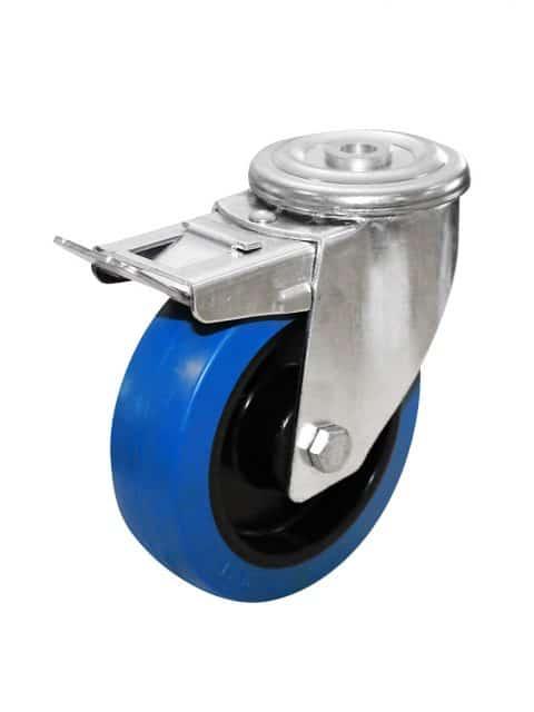Elastiske bløde gummihjul med nyloncenter (120-300 kg)