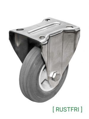Grå rustfri gummihjul (50-205 kg)