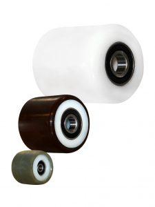 Hvide polyamid kunststofruller (300-2.000 kg)