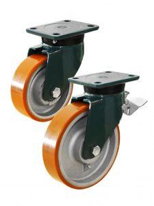 Støbejern/polyurethan hjul (250-2.800 kg)