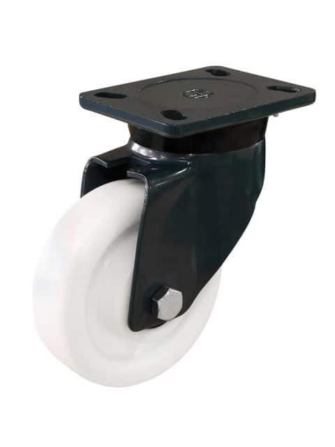 Hvide kunststofhjul af polyamid (250-2.000 kg)
