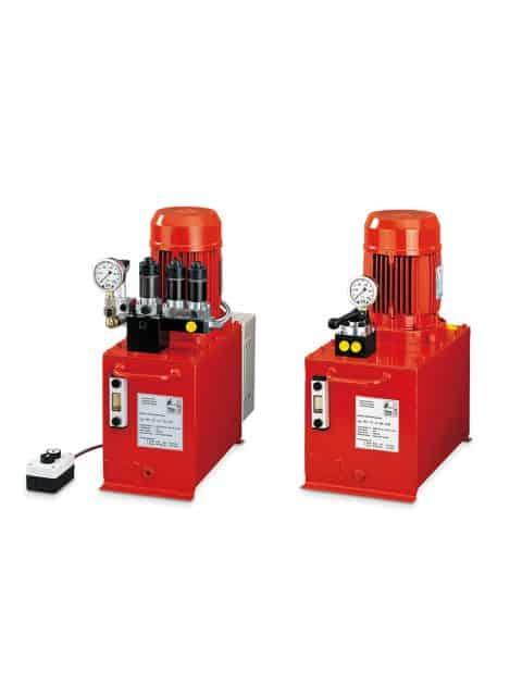 Elektriske hydrauliske pumper, som er nemme at betjene, da de leveres samlet og klar til brug.