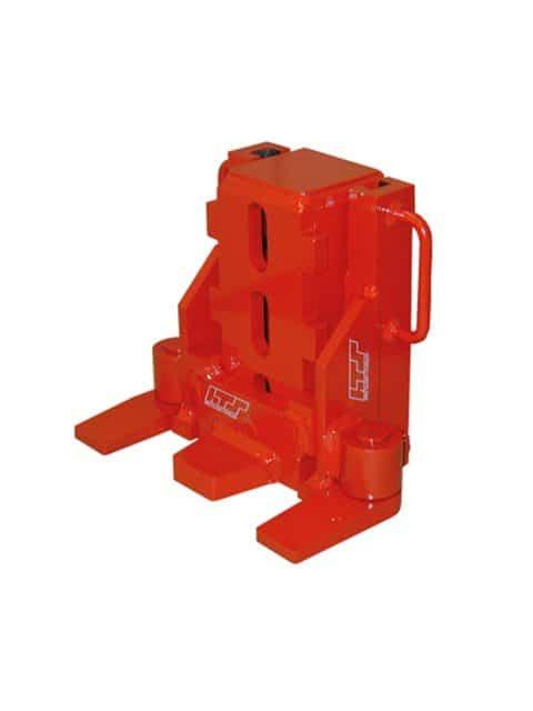 Universal maskindonkraft for ekstern pumpe med integreret fjederretur system