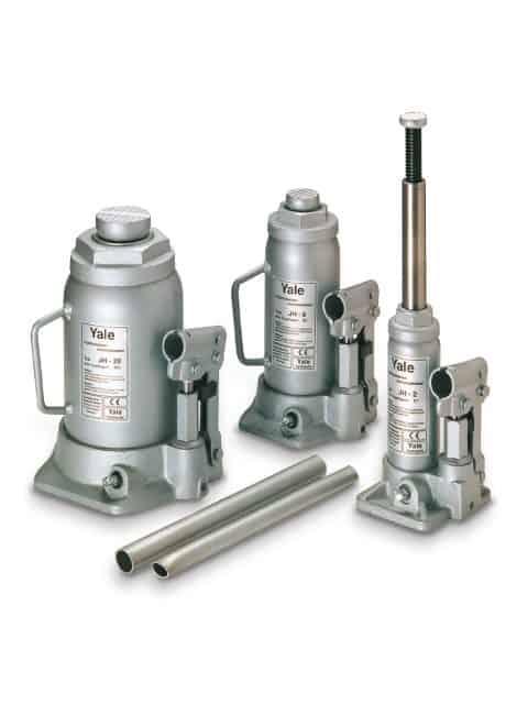Yale flaskedonkrafte, som kan anvendes til løft, skub, flytning og understøttelse af alle slags byrder.