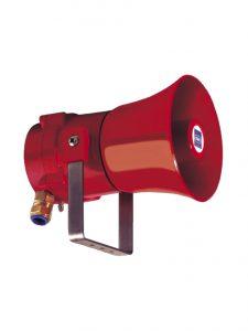 Signalhorn med tre forskellige signal sekvenser, som kan blive styret fra en ekstern afbryder