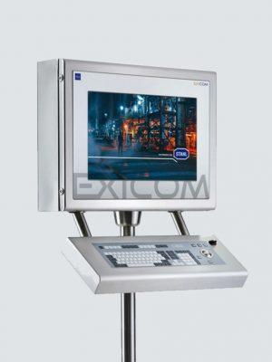 KVM-systemer udvider tastatur, mus & video på en arbejdsstation i det sikre område ind i Ex-områder