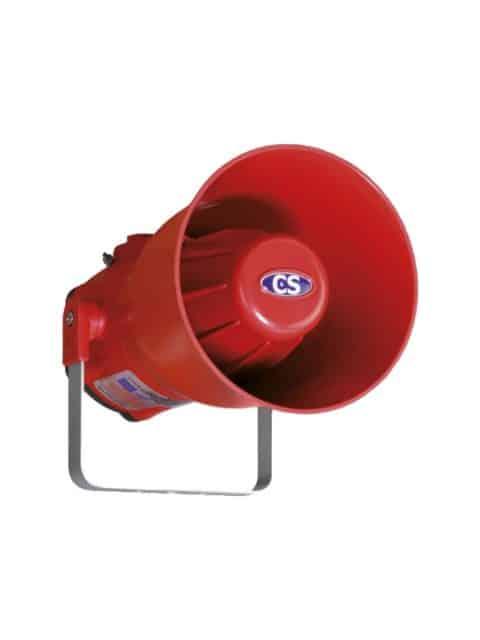 Lydgiver på 115 dB for zone 1 og 2, samt 21 og 22
