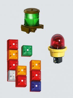 Ex optiske signallamper