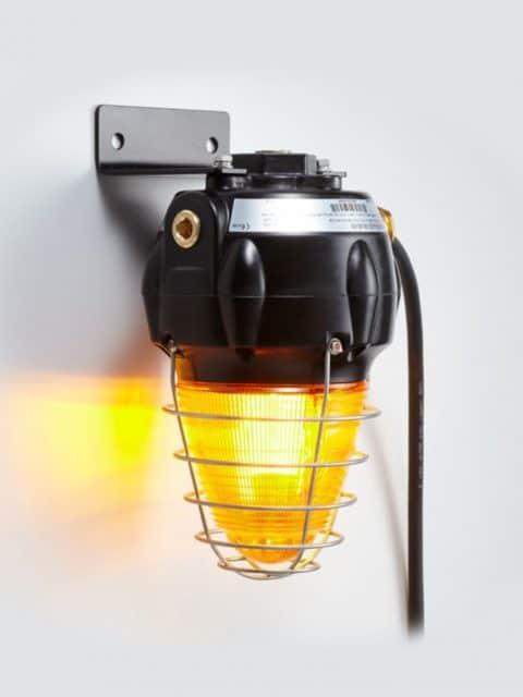 Ex-optisk signallampe for zone 1