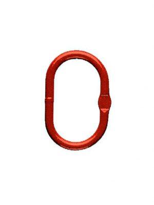 Ovalring for et- eller to-strengs kædesæt