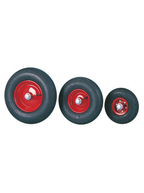 Luftgummihjul med stålpladefælg 95 for montering på akselende (fribærende montering)