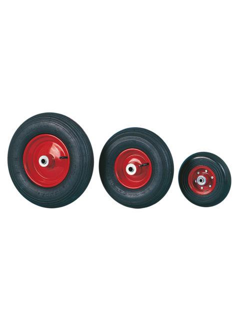 Luftgummihjul med stålpladefælg 95 for gaffelmontering