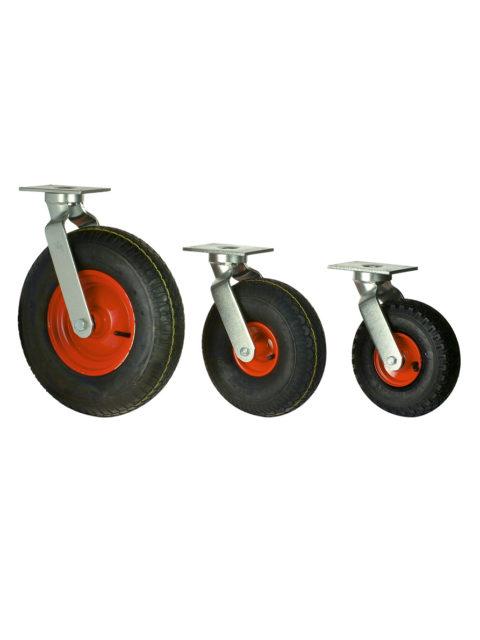Luftgummihjul med stålpladefælg i gaffel – YEHD 94/95/33