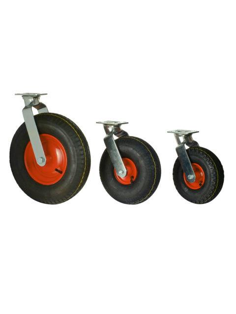 Luftgummihjul med stålpladefælg i gaffel – YHD 94/95/33
